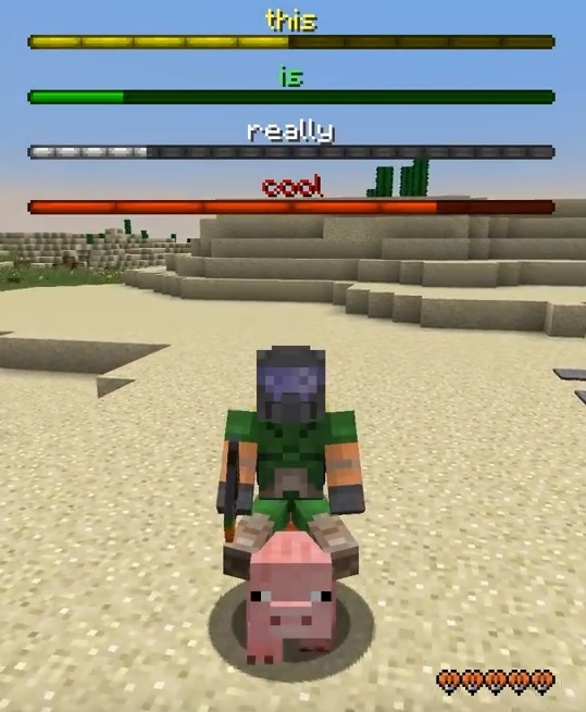 boss bar kolorowy customowy minecraft pasek bosa