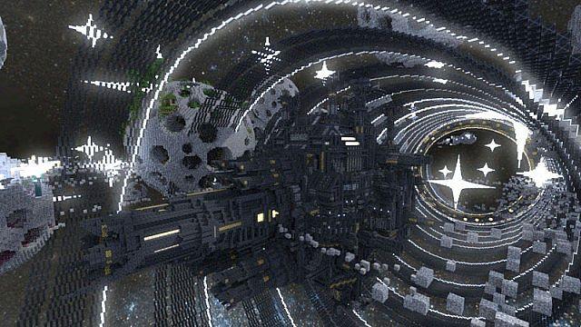 Budowle minecraft stacja kosmiczna