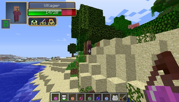 Damage indicators - minecraft 1.7.2