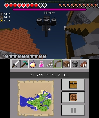 wither edycja nintendo 3ds minecraft